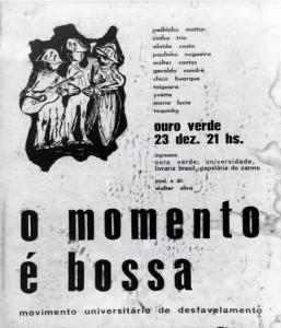Cartaz de um dos primeiros shows com participação de Toquinho