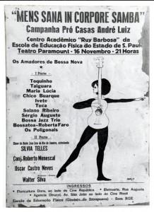 Cartaz do primeiro show com participação de Toquinho (Teatro Paramount) (1964)