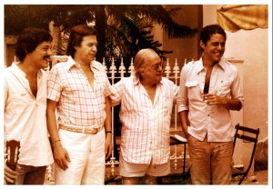 Preparacao-do-show-do-Canecao-(1977)-Toquinho-Jobim-Vinicius-e-Chico-Buarque-Casa-de-Vinicius-na-Gavea